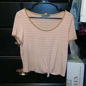 Charlotte Russe Tops - Cropped Tie Front Shirt
